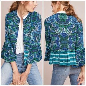 Anthro Blank Annette Printed Bell Sleeve Jacket